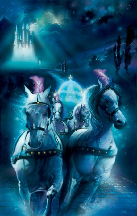 John Rowe Racing Midnight - From Disney Cinderella Giclee On Canvas