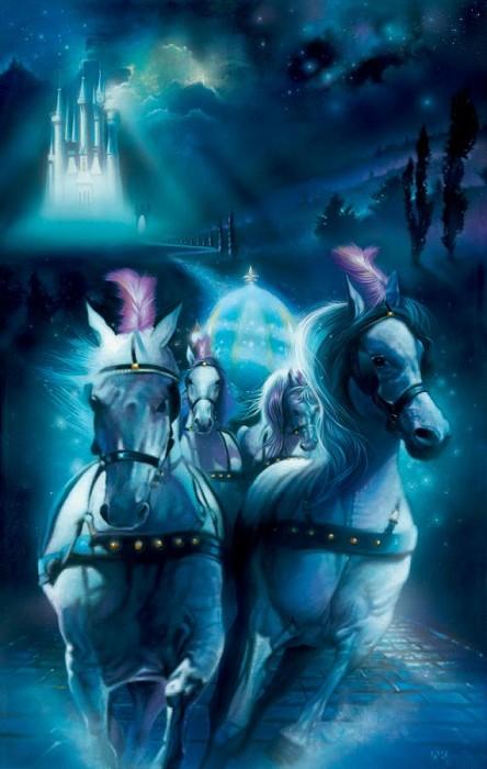 John RoweRacing Midnight - From Disney CinderellaGiclee On Canvas