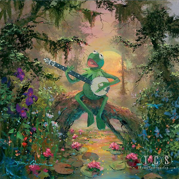James Coleman Rainbow Connection Kermit Giclee On Canvas