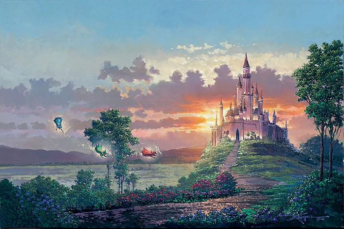 Rodel Gonzalez Blessings for the Princess - From Disney Sleeping Beauty Giclee On Canvas