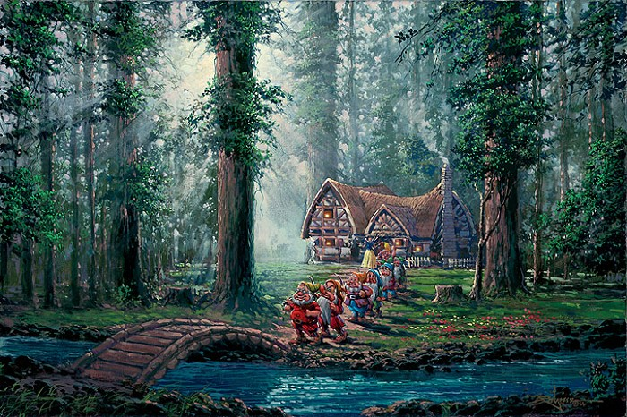 Rodel Gonzalez Morning Walk - From Disney Snow White and the Seven Dwarfs Giclee On Canvas