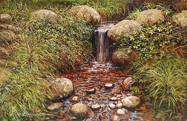 Peter Ellenshaw Rivulet Giclee On Canvas