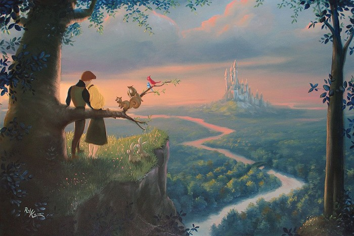 Rob Kaz  Our Royal Kingdom - From Disney Cinderella Hand-Embellished Giclee on Canvas