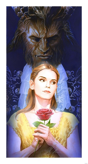 Alex Ross DisneyLa Belle Et La Bete From Beauty and The BeastLithograph