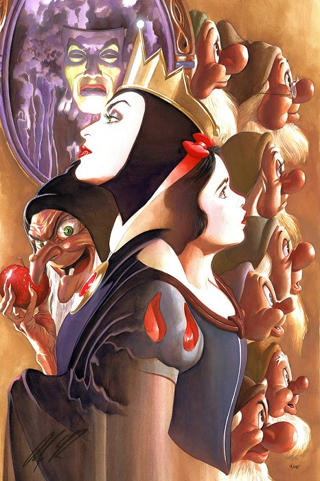 Alex Ross Disney Once There Was a Princess From Beauty and The Beast Giclee On Canvas