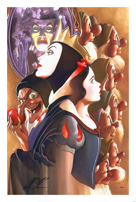 Alex Ross Disney Once There Was a Princess From Beauty and The Beast Lithograph