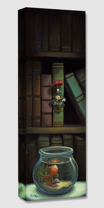 Rob Kaz Dropping In From PinocchioGallery Wrapped Giclee On Canvas