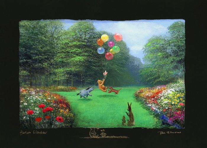 Peter / Harrison EllenshawRescuing Piglet - From Disney Winnie the PoohChiarograph on paper