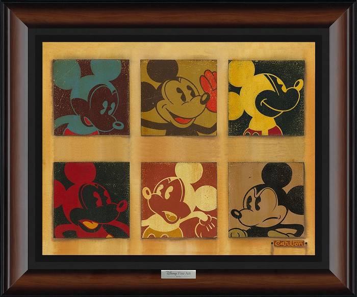 Trevor Carlton 6-Up Mickey Giclee On Canvas