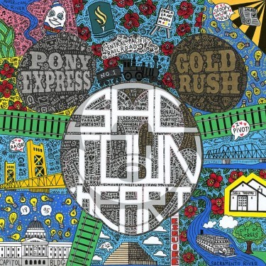 Tennessee LovelessSactown HeartHand-Embellished Giclee on Canvas