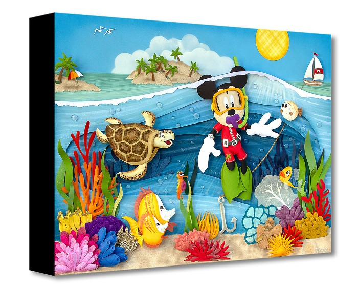 Trevor Carlton Scuba Mickey Gallery Wrapped Giclee On Canvas