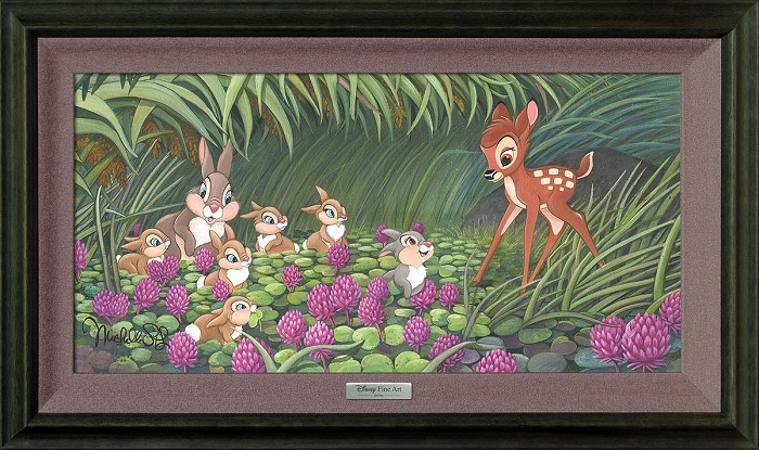 Michelle St Laurent Saying Hello to Thumper Framed Giclee On Canvas