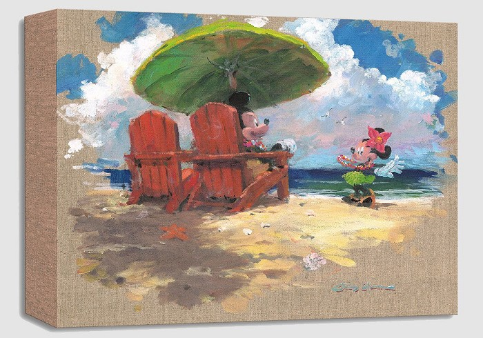 James Coleman Shorefront Hula Gallery Wrapped Giclee On Canvas