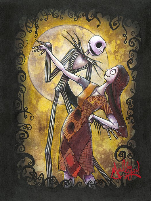 James C Mulligan Simply Meant to be From The Movie Nightmare Before Christmas Original Acylic on Board