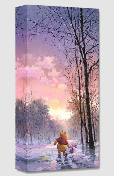 Rodel Gonzalez Snowy Path Giclee On Canvas