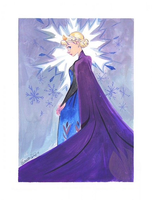 Victoria Ying Snow Queen Giclee On Paper
