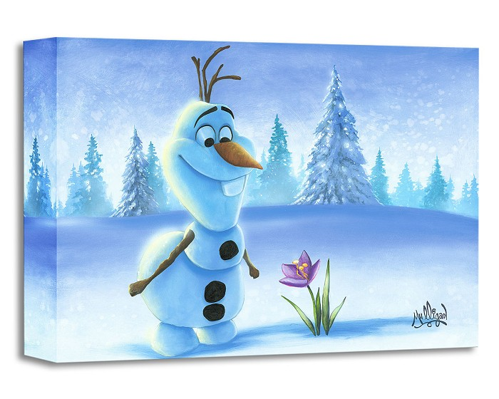 James C MulliganSnowman in Spring From The Movie FrozenGallery Wrapped Giclee On Canvas
