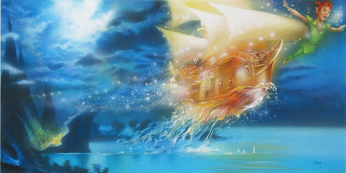 John Rowe SOARING OVER THE SEA Original on Canvas