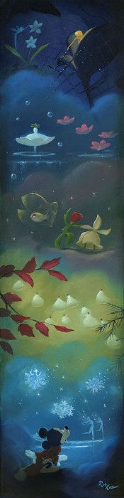 Rob Kaz Spectacle of the SeasonsHand-Embellished Giclee on Canvas
