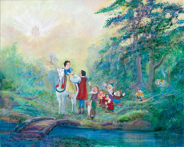 Harrison EllenshawSomeday My Prince Will Come Snow WhiteHand-Embellished Giclee on Canvas