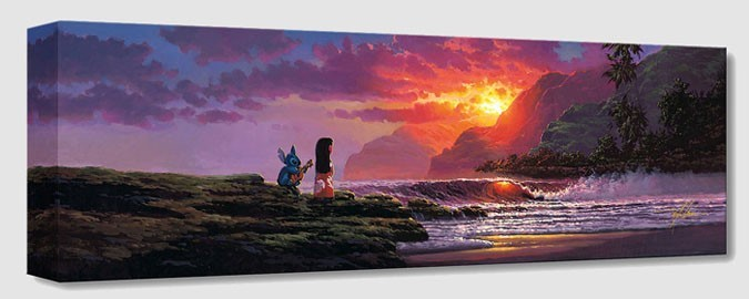 Rodel Gonzalez A Song at Sunset From Lilo And Stitch Gallery Wrapped Giclee On Canvas