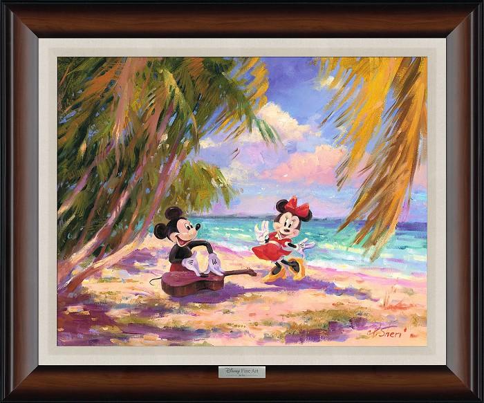 Irene SheriPalm Trees and Island Breeze FramedGiclee On Canvas