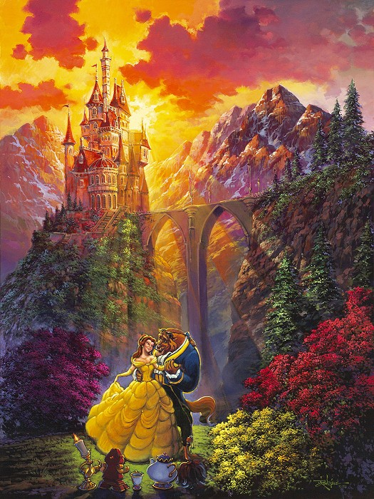 Rodel Gonzalez Spring Dance From Beauty and the Beast Gallery Wrapped Giclee On Canvas