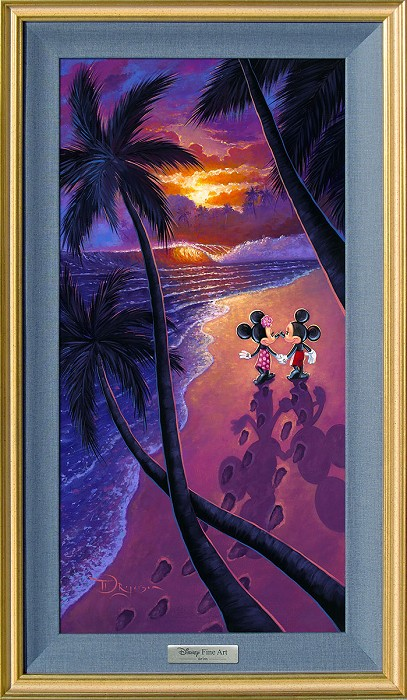 Tim Rogerson Sunset Stroll Framed Giclee On Canvas