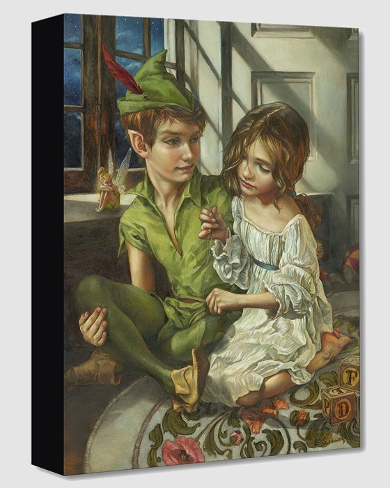Heather Edwards Sewn to His Shadow From Peter Pan Gallery Wrapped Giclee On Canvas