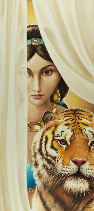 Edson CamposThe Sultan's Daughter From AladdinHand-Embellished Giclee on Canvas