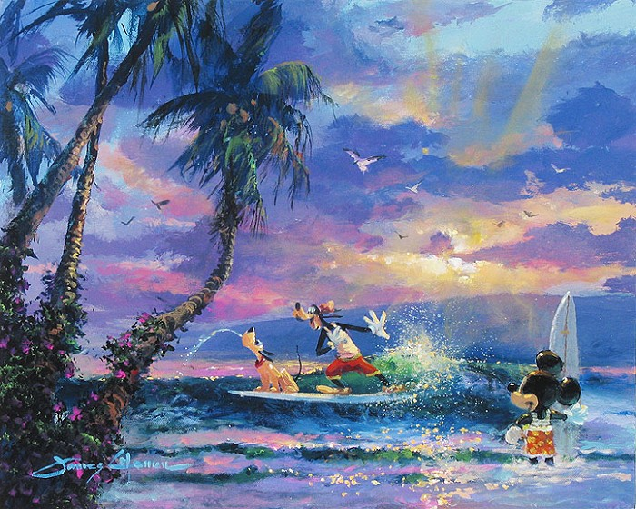 James Coleman Summer Escape Giclee On Canvas