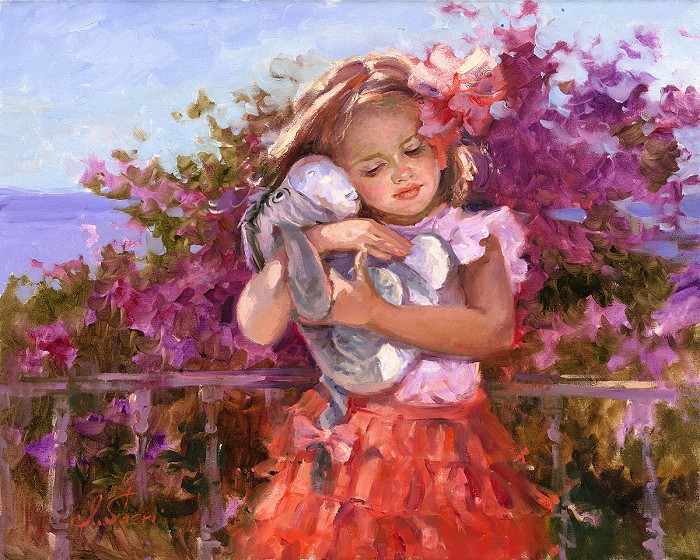 Irene SheriEeyore's Sunny DayHand-Embellished Giclee on Canvas