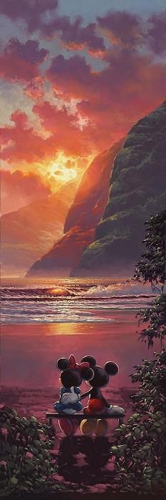 Rodel GonzalezSunset RomanceHand-Embellished Giclee on Canvas
