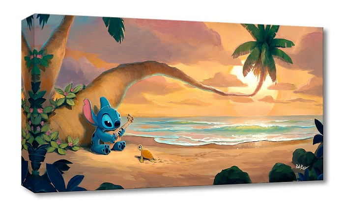 Rob Kaz  Sunset Serenade From Lilo and Stitch Gallery Wrapped Giclee On Canvas