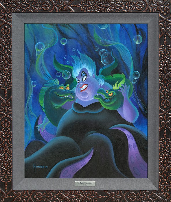Michael Humphries Ursula and Her Messengers Framed Giclee On Canvas