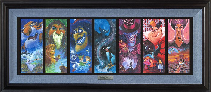 Stephen FishwickThe Villainous Seven FramedGiclee On Canvas