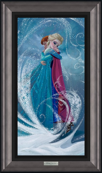 Lisa Keene The Warm Embrace Framed Giclee On Canvas