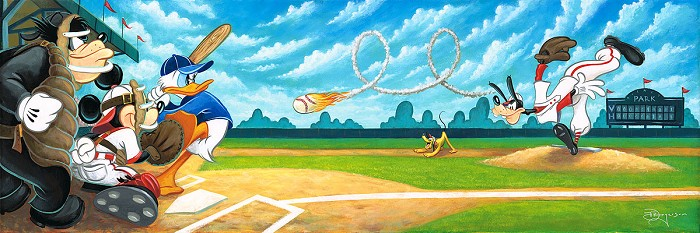 Tim Rogerson Swing for the Fences Hand-Embellished Giclee on Canvas