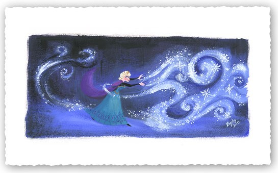 Lorelay Bove Swirls of Snowy Magic Giclee On Canvas