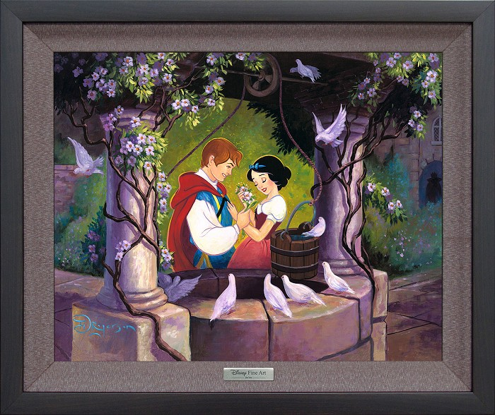Tim Rogerson The Wishing Well Framed Giclee On Canvas