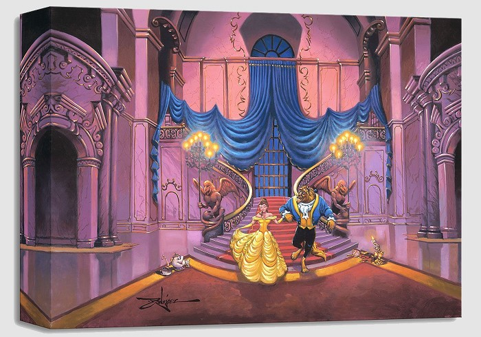 Rodel Gonzalez Tale as Old as Time - From Disney Beauty and The Beast Gallery Wrapped Giclee On Canvas