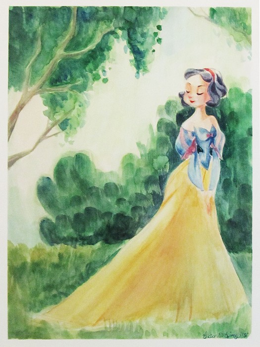 Victoria Ying The Beauty of Snow in Spring From Disney Beauty And The Beast Original Watercolor on Paper