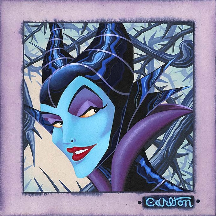Trevor Carlton Twisted and Evil - From Disney Sleeping Beauty Hand-Embellished Giclee on Canvas