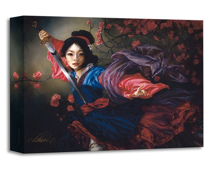 Heather Theurer The Elegant Warrior From Mulan Gallery Wrapped Giclee On Canvas