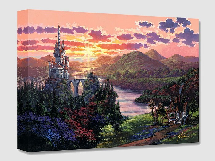 Rodel Gonzalez The Beauty in Beast's Kingdom From Beauty And The Beast Gallery Wrapped Giclee On Canvas