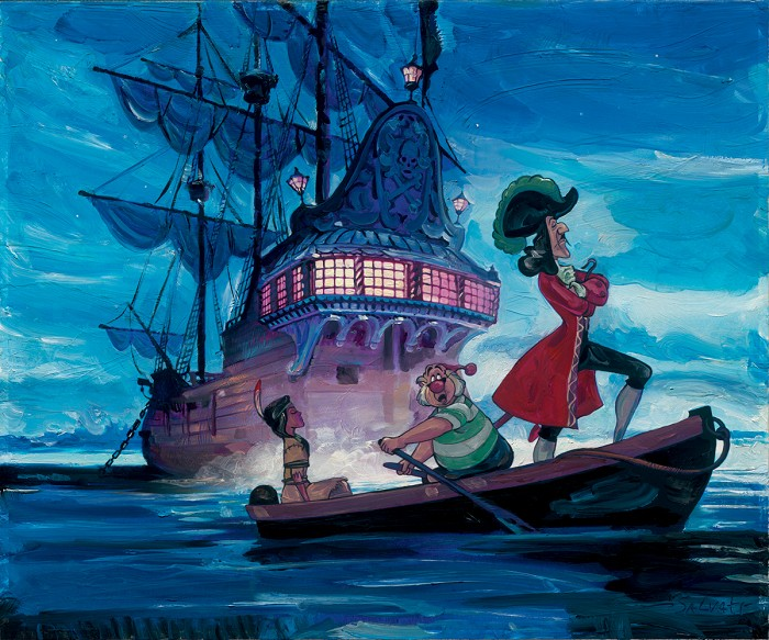 Jim SalvatiTiger Lilly And Hook - From Disney Pirates of the CaribbeanGiclee On Canvas