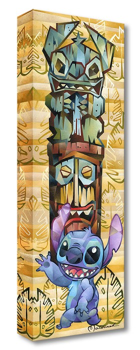 Rob Kaz  Tiki Stitch Gallery Wrapped Giclee On Canvas
