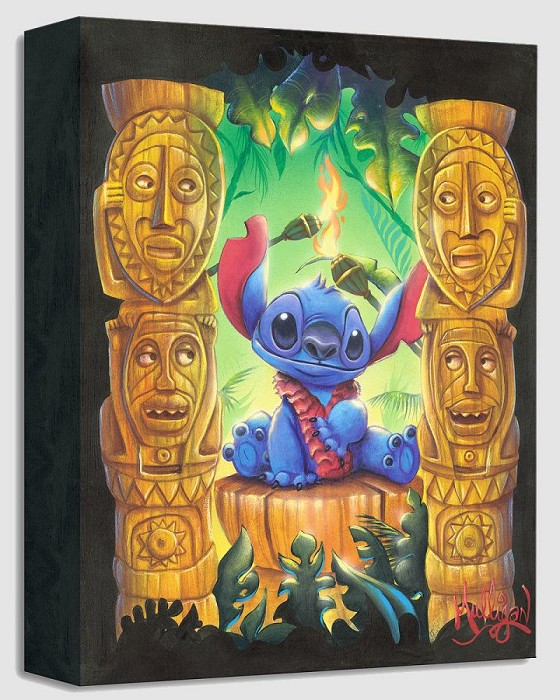 James C Mulligan Tiki Trouble - From Disney Lilo and Stitch Gallery Wrapped Giclee On Canvas