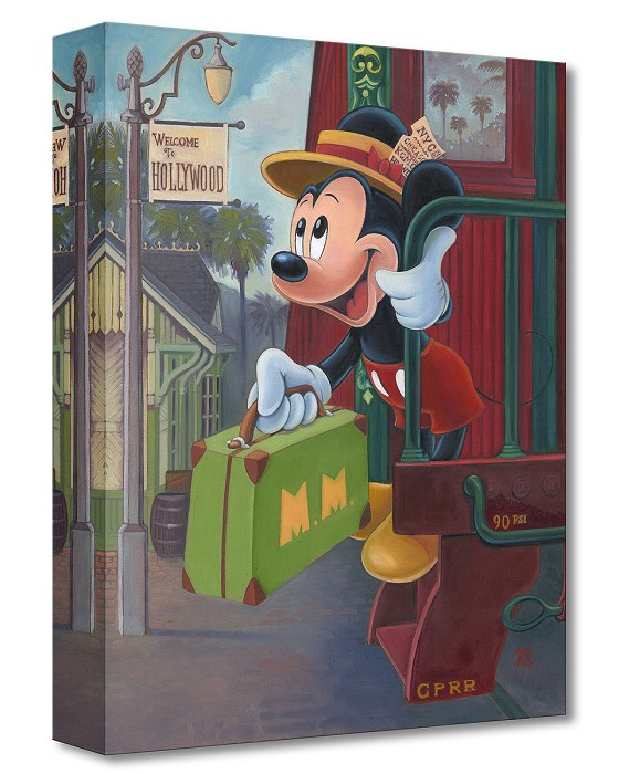 Bret Iwan Track 28 From Mickey Mouse Gallery Wrapped Giclee On Canvas
