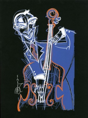 Tim Rogerson Bass Line Blues Serigraph on Paper